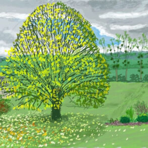 David Hockney- The Big tree in Autumn