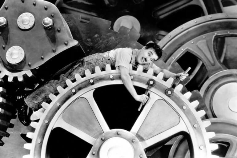 1936 Πρεμιέρα της ταινίας του Τσάρλι Τσάπλιν «Μοντέρνοι Καιροί».