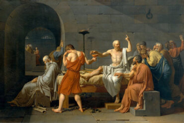 Θάνατος του Σωκράτη, πίνακας του Γάλλου ζωγράφου Ζακ-Λουί Νταβίντ (1787)